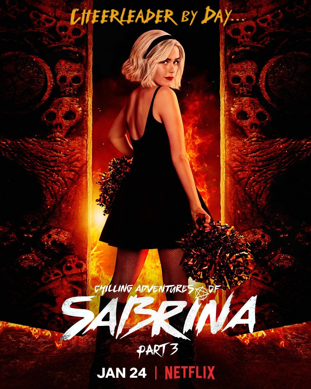 aventuras arrepiantes de sabrina poster parte 3 kiernan shipka