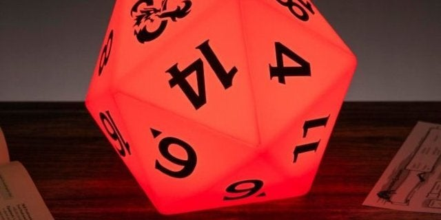 Dungeons & Dragons D20 Lamp Lights Your Path In Multiple Colors