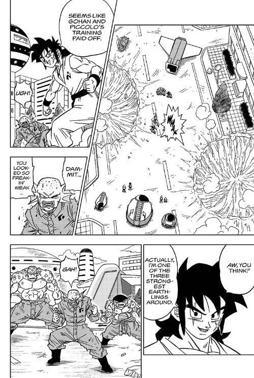 Dragon Ball Super Chapter 56 Yamcha vs. Galactic Bandit Brigade Fight