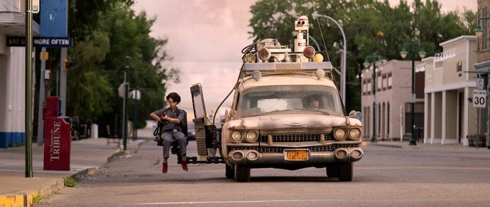 ghostbusters afterlife ecto-1 mckenna grace