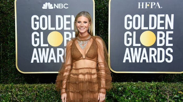 Gwyneth Paltrow Naked Dress Golden Globes 2020