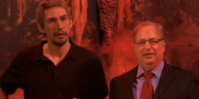Saturday Night Live Visits Adam Driver as Jeffrey Epstein and Mr. Peanut in Hell