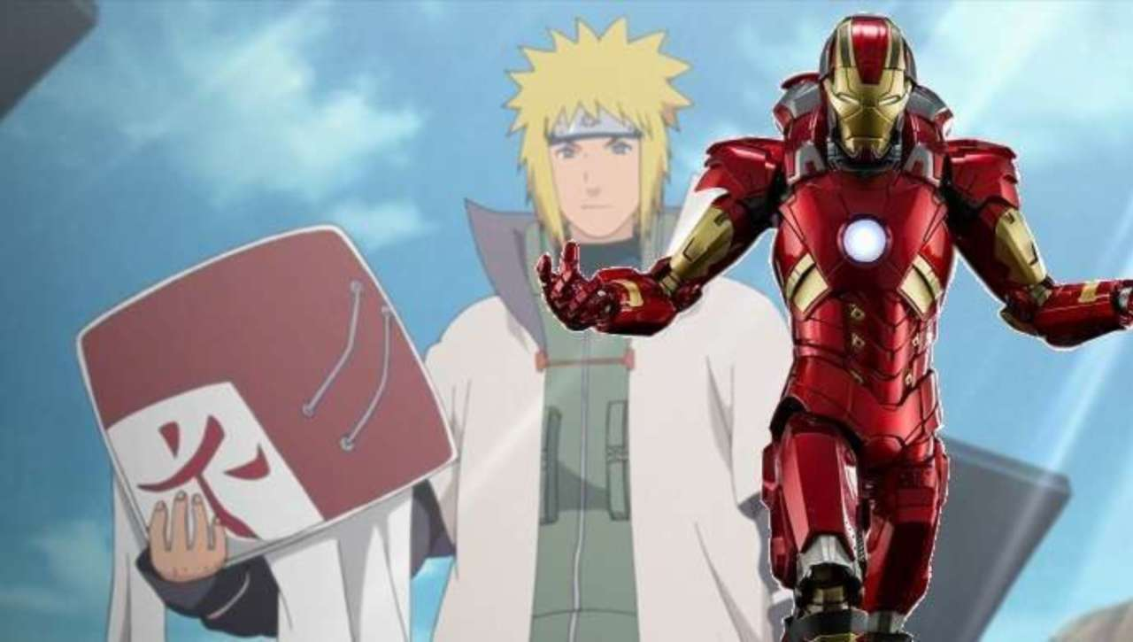Iron Man Meets Naruto's Hokage in This Fan-Art
