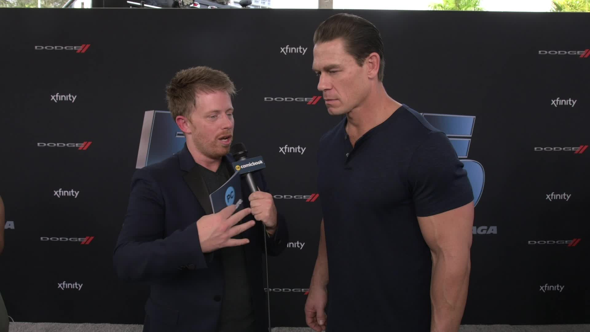 John Cena Talks Fast 9 screen capture