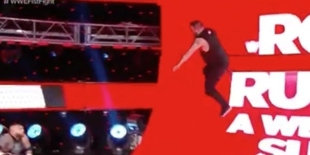 Watch: Kevin Owens Breaks out a Parkour Move During WWE Raw Fist Fight
