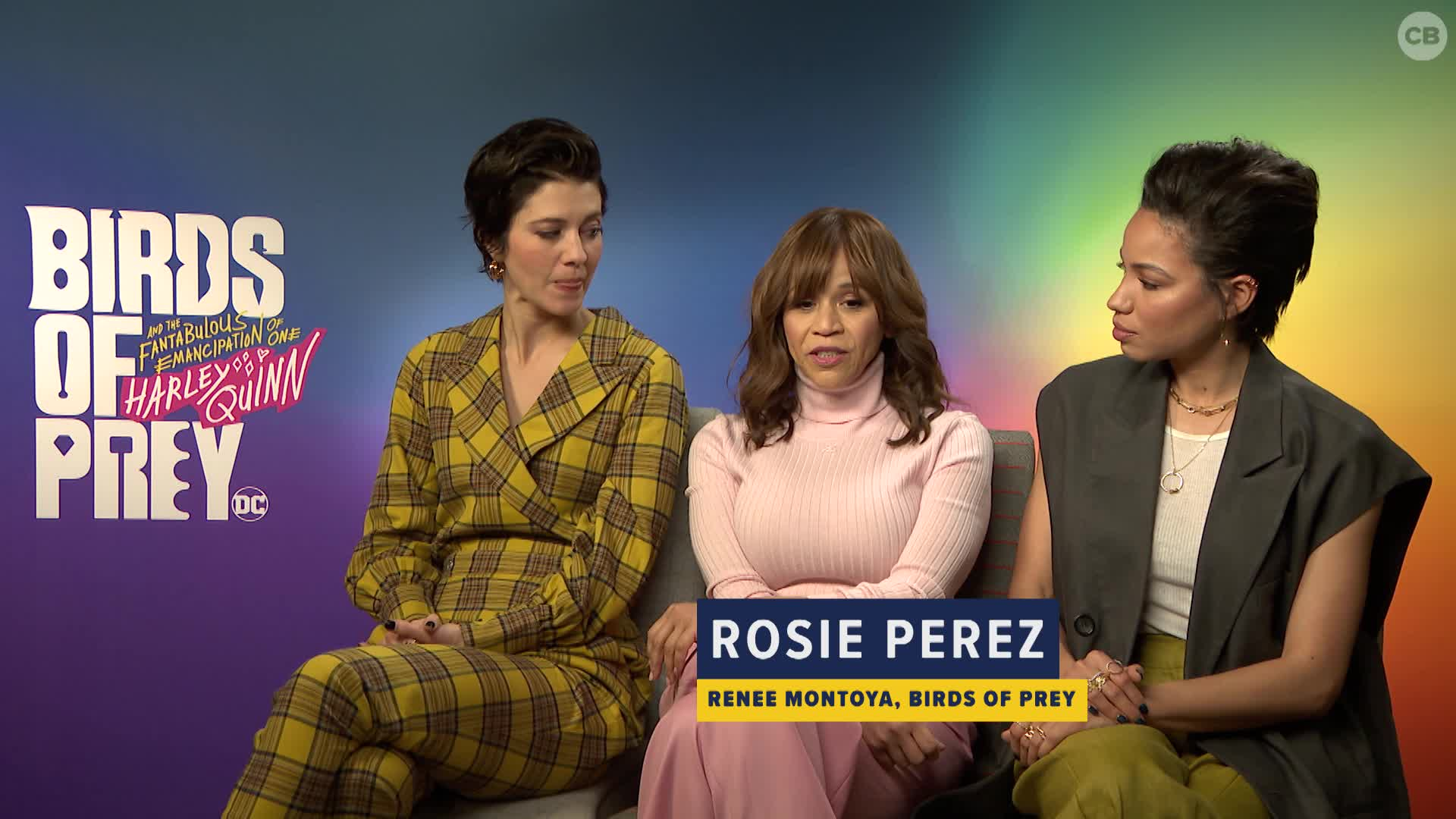 Mary Elizabeth Winstead, Rosie Perez and Jurnee Smollett-Bell Talk BIRDS OF PREY screen capture