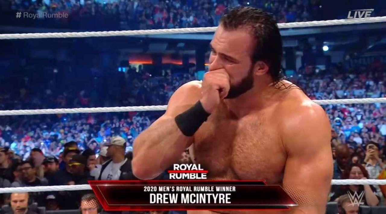 Drew McIntyre como ganador del Royal Rumble