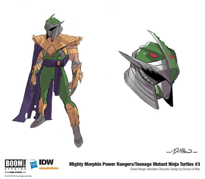 Mighty Morphin Power Rangers 2 Green Ranger Shredder Artwork