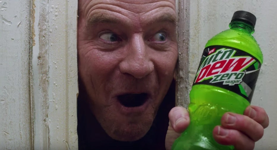 mountain dew bryan cranston shining