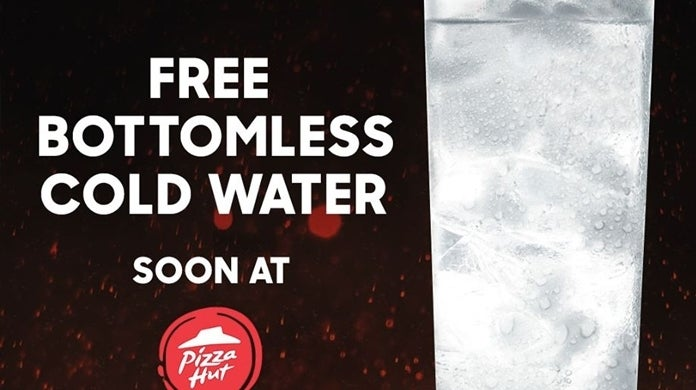 pizza hut water