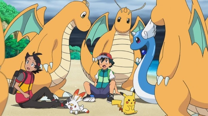 Pokemon Anime Ash Go Dragonite