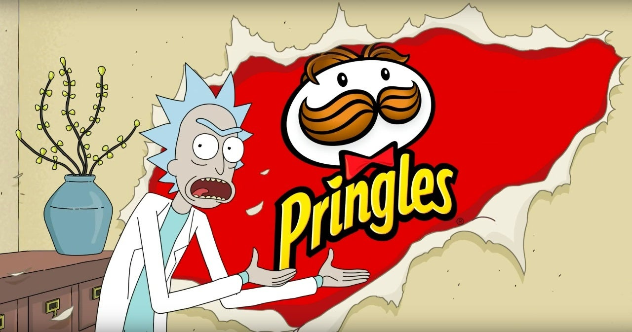 rick and morty pringles super bowl commercial