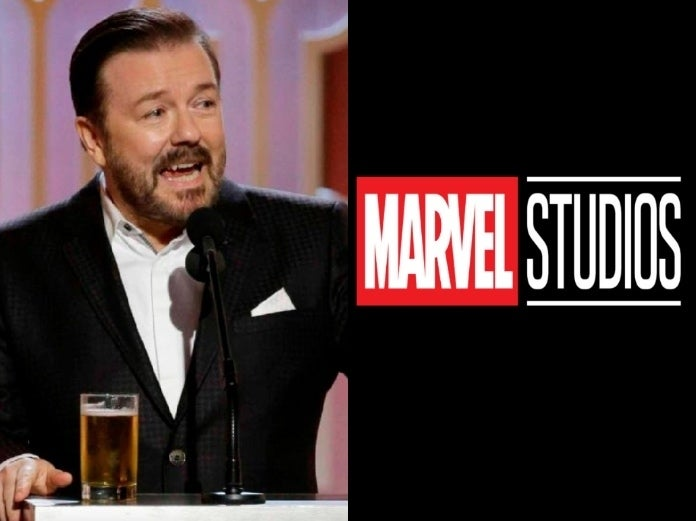Ricky Gervais Golden Globes Marvel