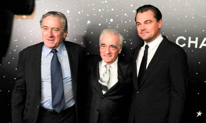 Robert De Niro Martin Scorsese Leonardo DiCaprio Photo by Paul Bruinooge Patrick McMullan