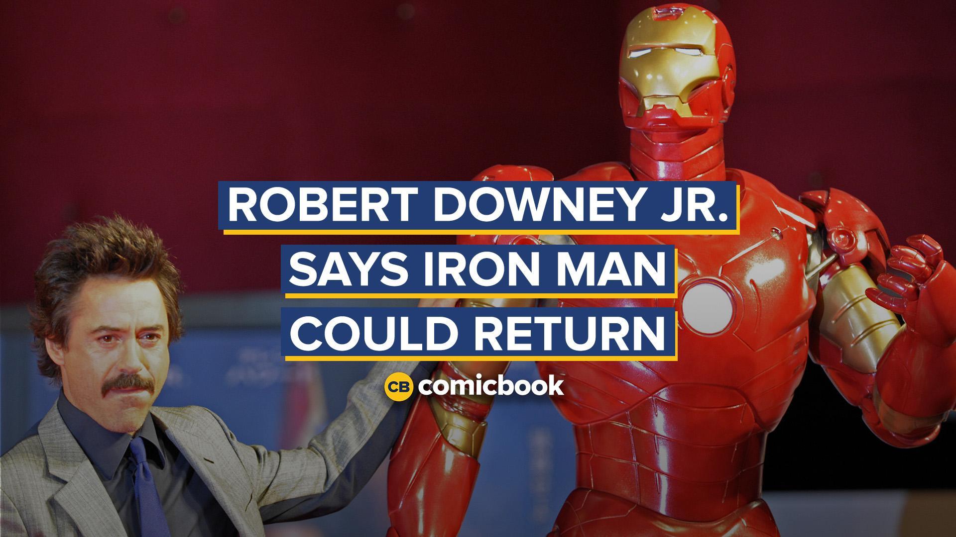 Robert Downey Jr. Says Iron Man Could Return screen capture