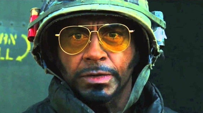 Robert Downey Jr Tropic Thunder Blackface Role Lincoln Osiris Mother Reaction
