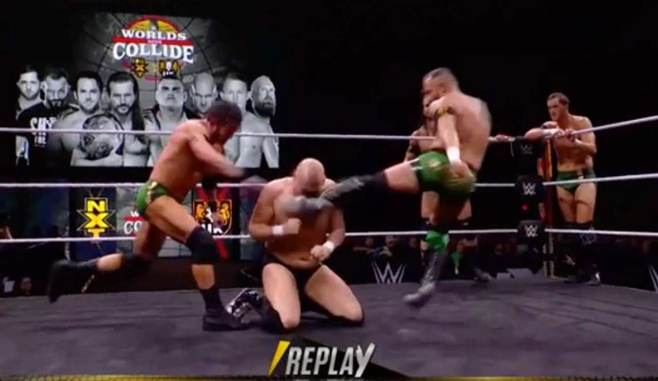 Watch: Alexander Wolfe Suffers Gruesome Injury During WWE Worlds Collide