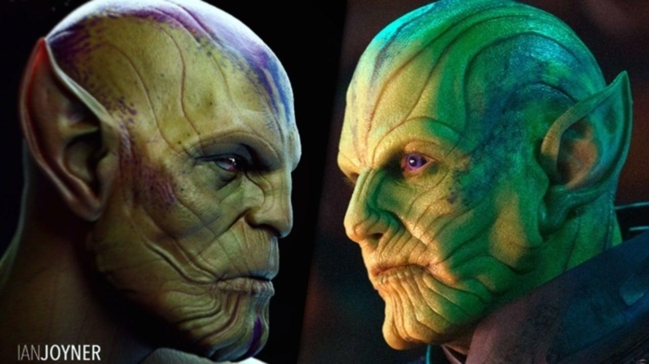 Captain Marvel Concept Artist Reveals Early Talos Skrull Design