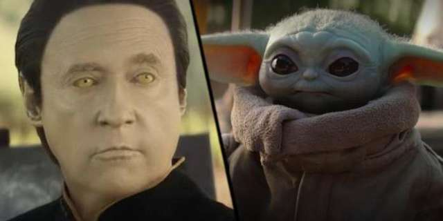 Star Trek Fans Can't Unsee This Data and Baby Yoda Mashup