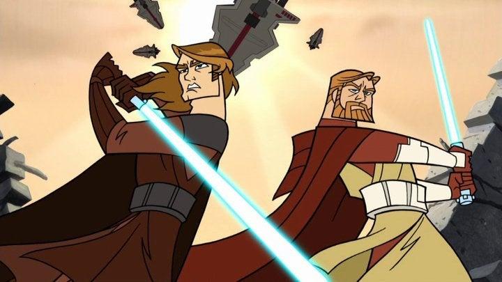 star wars clone wars anakin obi-wan