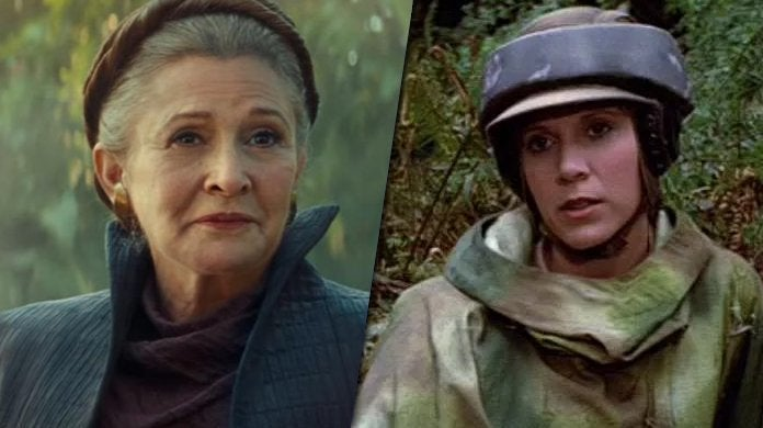 star wars return of the jedi leia organa carrie fisher