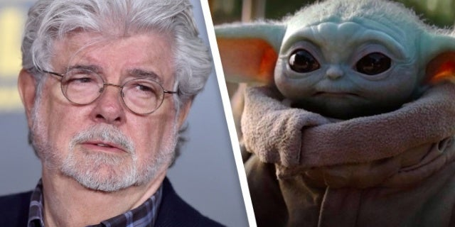 Star Wars: George Lucas Holds Baby Yoda in New Behind-the-Scenes Photo