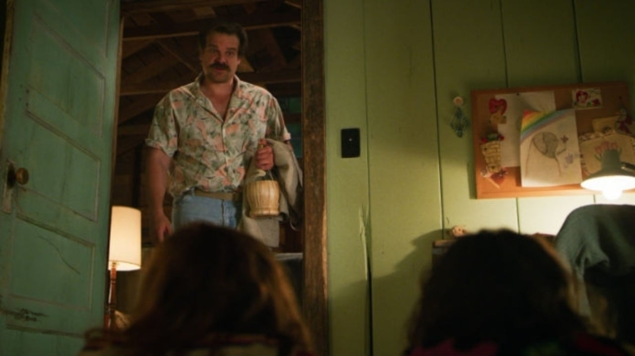 Stranger Things: David Harbour Channels Hopper in Hilarious Photo with Millie Bobby Brown and Finn Wolfhard