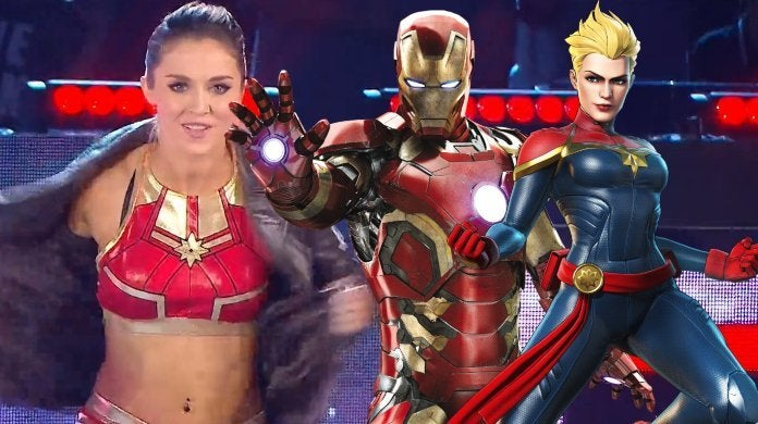 Tegan Nox WWE Iron Man Captain Marvel
