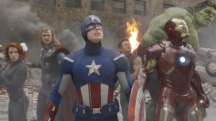 the avengers team shot