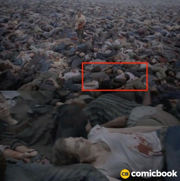 The Walking Dead Eugene Rosita holding hands