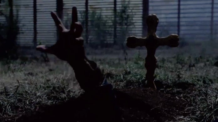 The Walking Dead grave hand