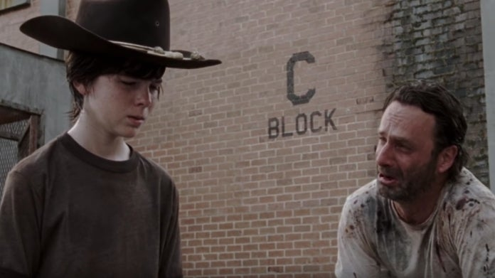 The Walking Dead Rick Carl Grimes Chandler Riggs Andrew Lincoln