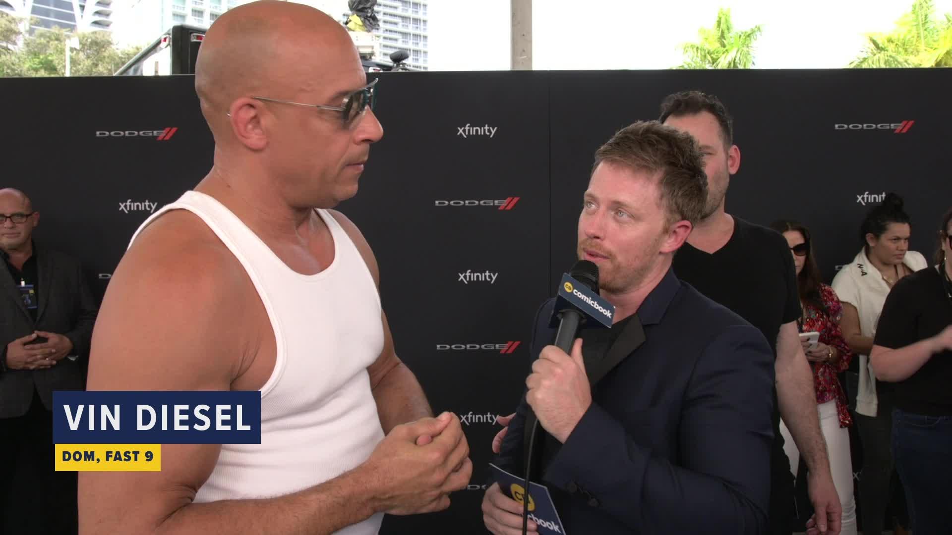 Vin Diesel Talks Fast 9 screen capture