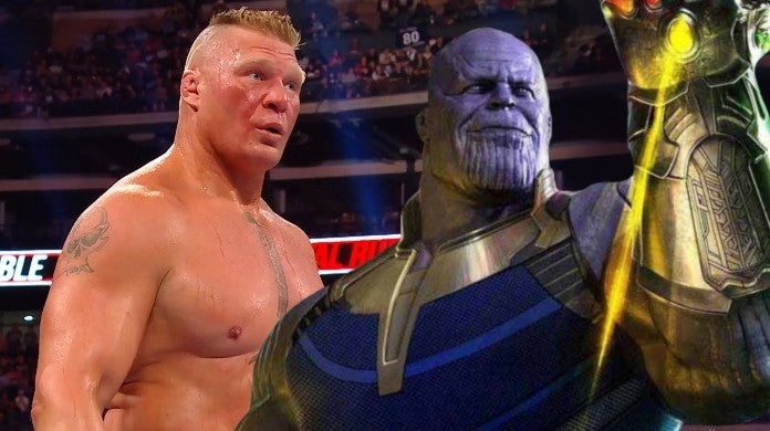 WWE Brock Lesnar Marvel Thanos