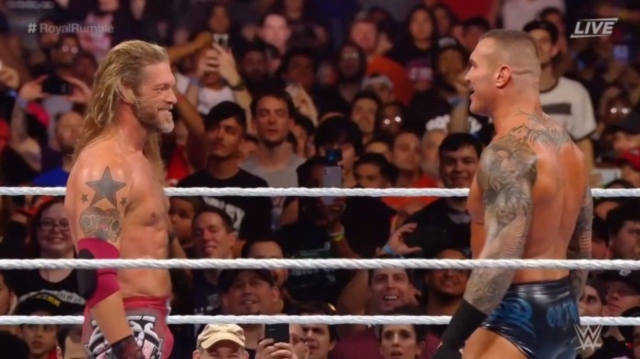 WWE Royal Rumble Fans Are Losing it Over Edge and Randy Orton's Rated-RKO Reunion