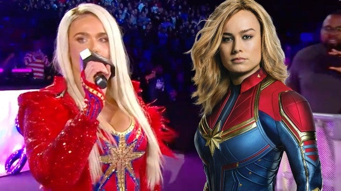 WWE Lana Royal Rumble 2020 Captain Marvel