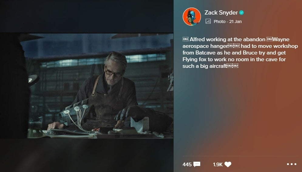 Zack Snyder shared a photo on VERO™