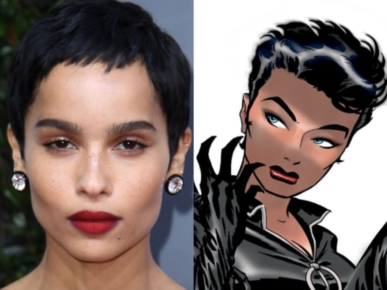Batman Fans React To Zoe Kravitz Purrfect Catwoman Hair At