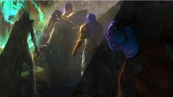 avengers endgame concept art nebula thanos infinity gauntlet