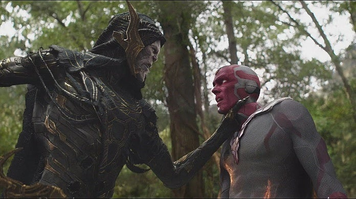 Avengers Infinity War VFX Deleted Scene Vision Fights Kills Corvus Glaive