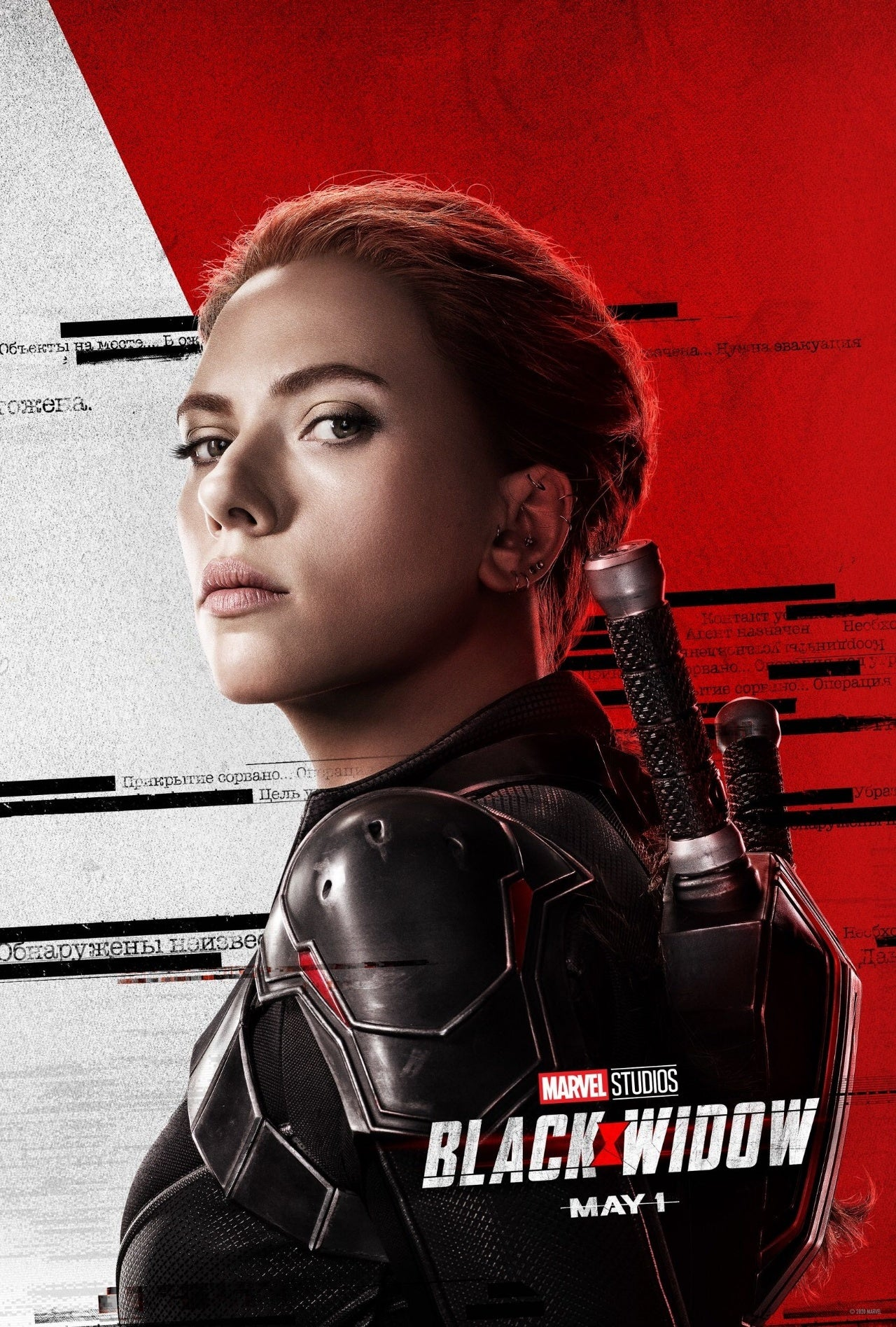 black widow character poster