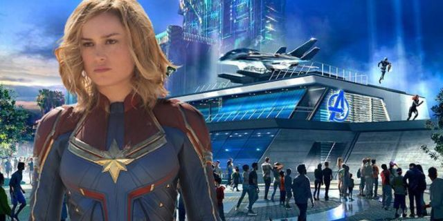 Captain Marvel Spotted Filming Disneyland Commercial for Avengers Campus