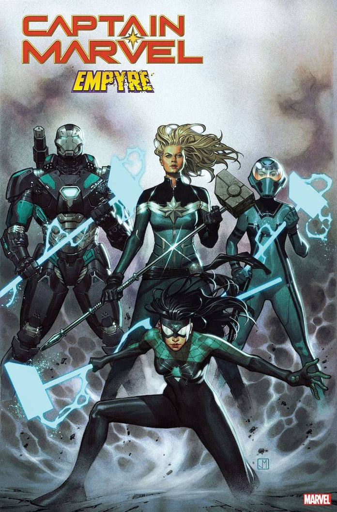 Captain-Marvel-Empyre-Accusers-Team-Spider-Woman-War-Machine-Hazmat-Cover