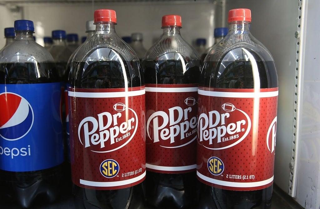 dr pepper bottles