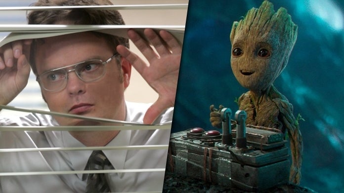 dwight schrute the office baby groot crossover