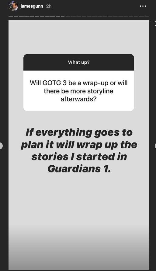 james gunn guardians 3 instagram