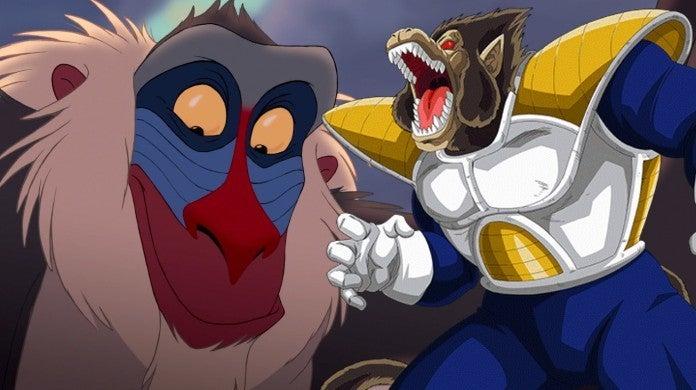 Lion King Rafiki Dragon Ball Z Oozaru