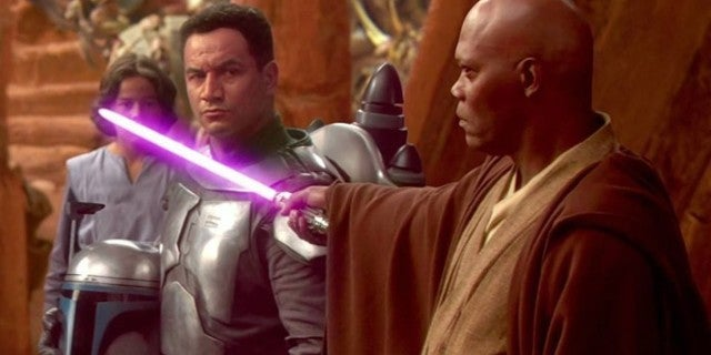 Watch the Moment When Samuel L. Jackson Asked George Lucas for a Purple Lightsaber in Star Wars