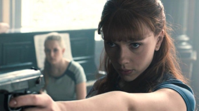 Marvel Black Widow Movie Young Natasha Yelena Flashback Scene