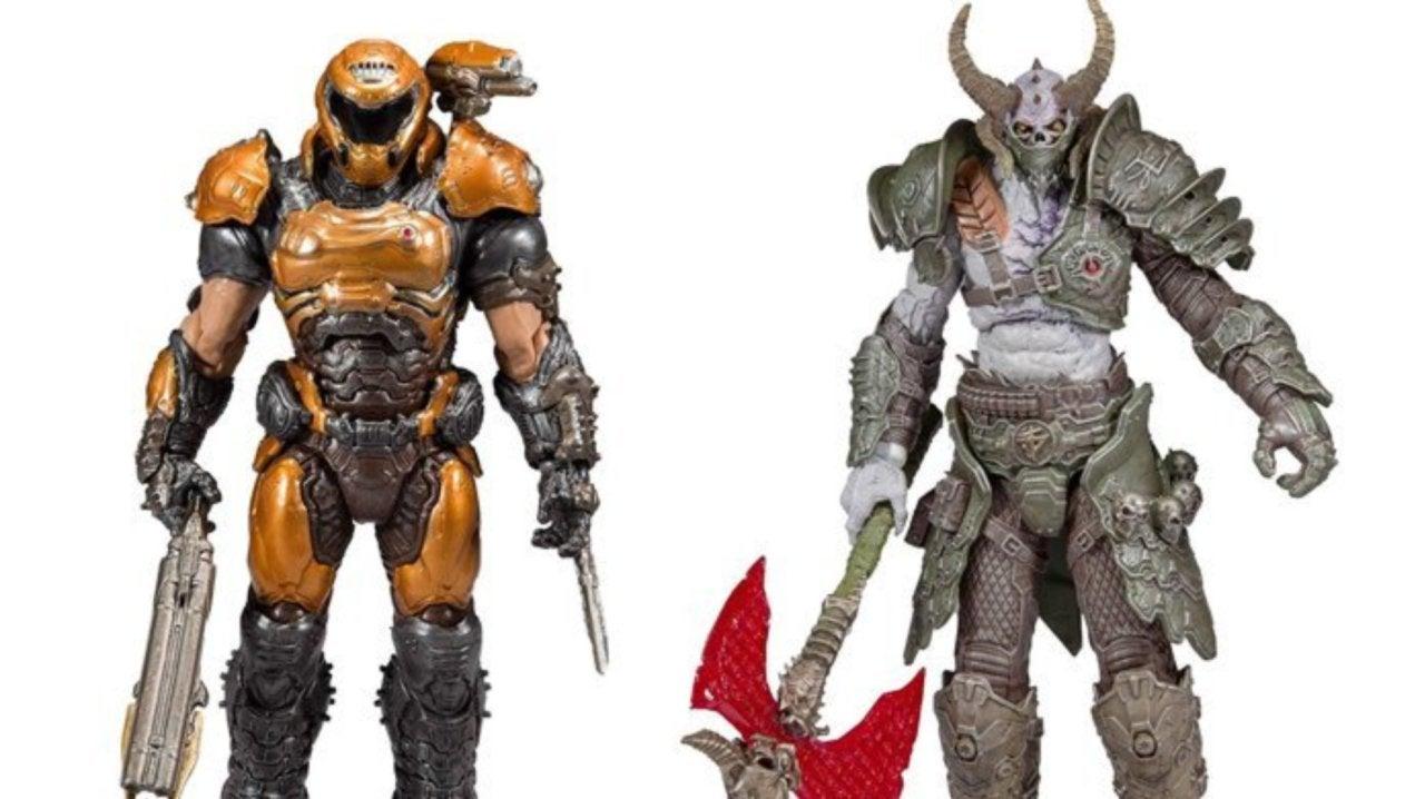 Doom Eternal Marauder And Doom Slayer Phobos Armor Mcfarlane Toys Figures Are Live